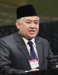 Dr. Prof. M. Din Syamsuddin, Muhammadiyah and Indonesia Ulama Council. UN Photo Paulo Filgueiras.